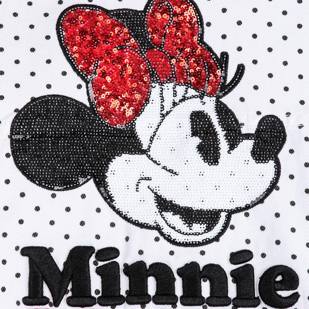 Minnie Mouse Denim Jacket for Women – White