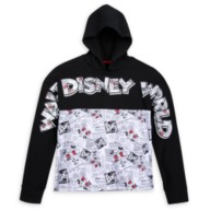 Mickey and Minnie Mouse Newsprint Pullover Hoodie for Women – Walt Disney World