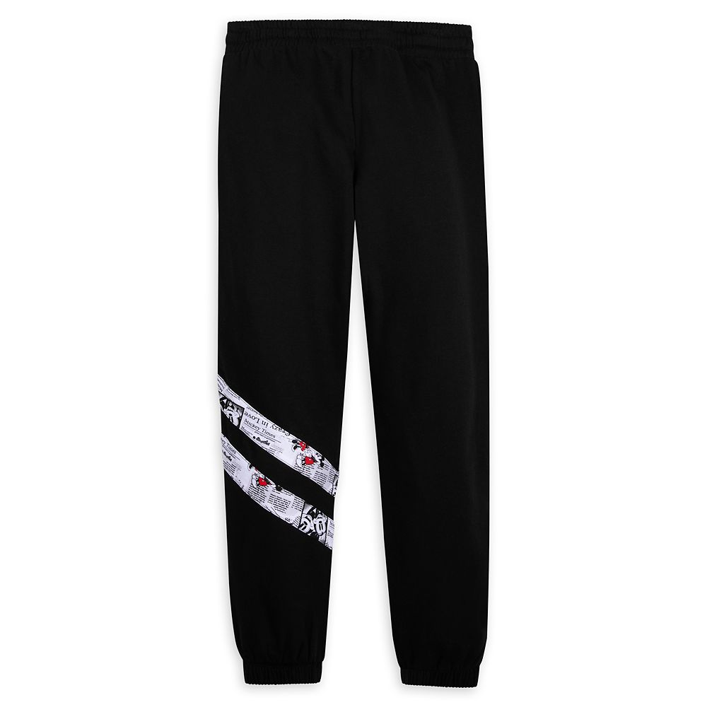 Mickey and Minnie Mouse Newsprint Jogger Pants for Women – Walt Disney World