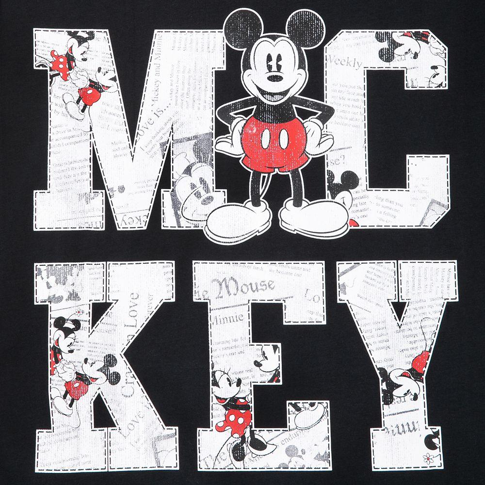 Mickey Mouse Newsprint T-Shirt for Men