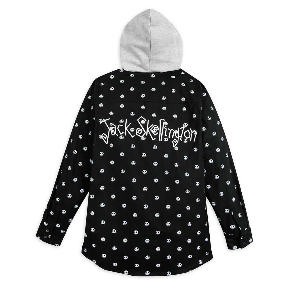 Jack Skellington Woven Hoodie Shirt for Adults – The Nightmare Before Christmas