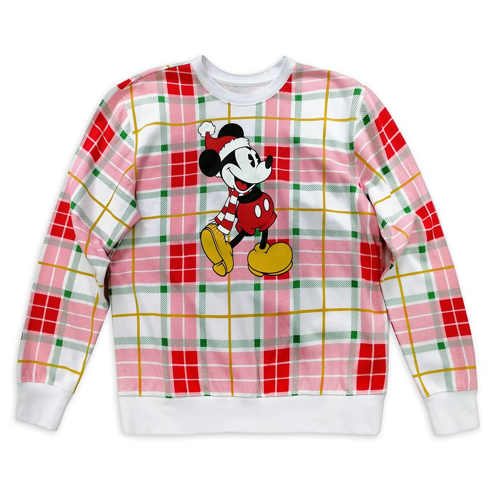Mickey Mouse Holiday Plaid Pullover for Adults