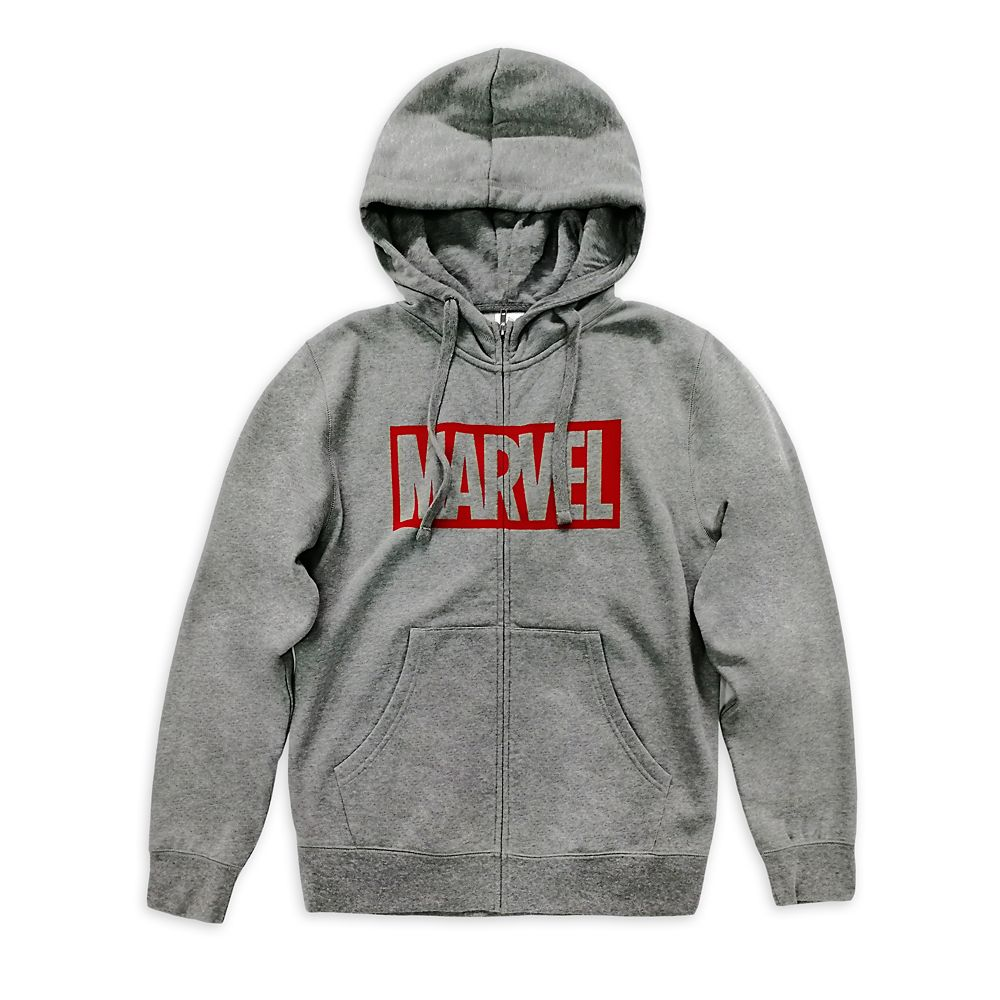 Marvel Logo Zip-Up Hoodie for Men