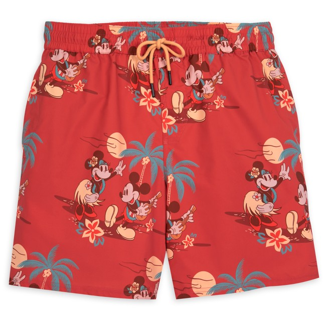 Mickey and Minnie Mouse Tropical Shorts for Men