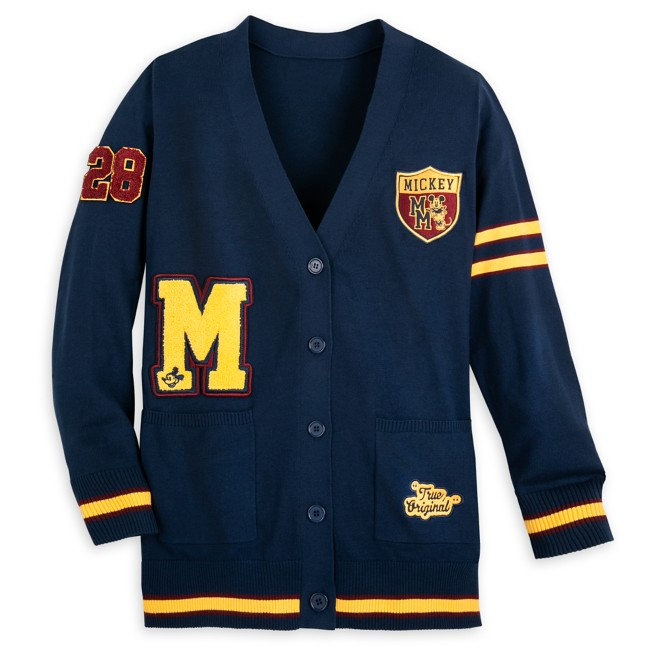 Mickey Mouse Letterman Cardigan for Adults