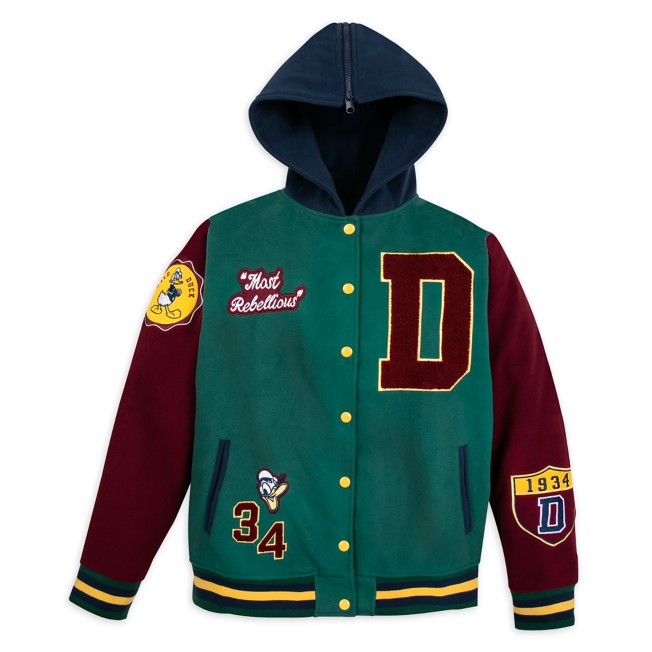 Donald Duck Letterman Hooded Jacket for Adults