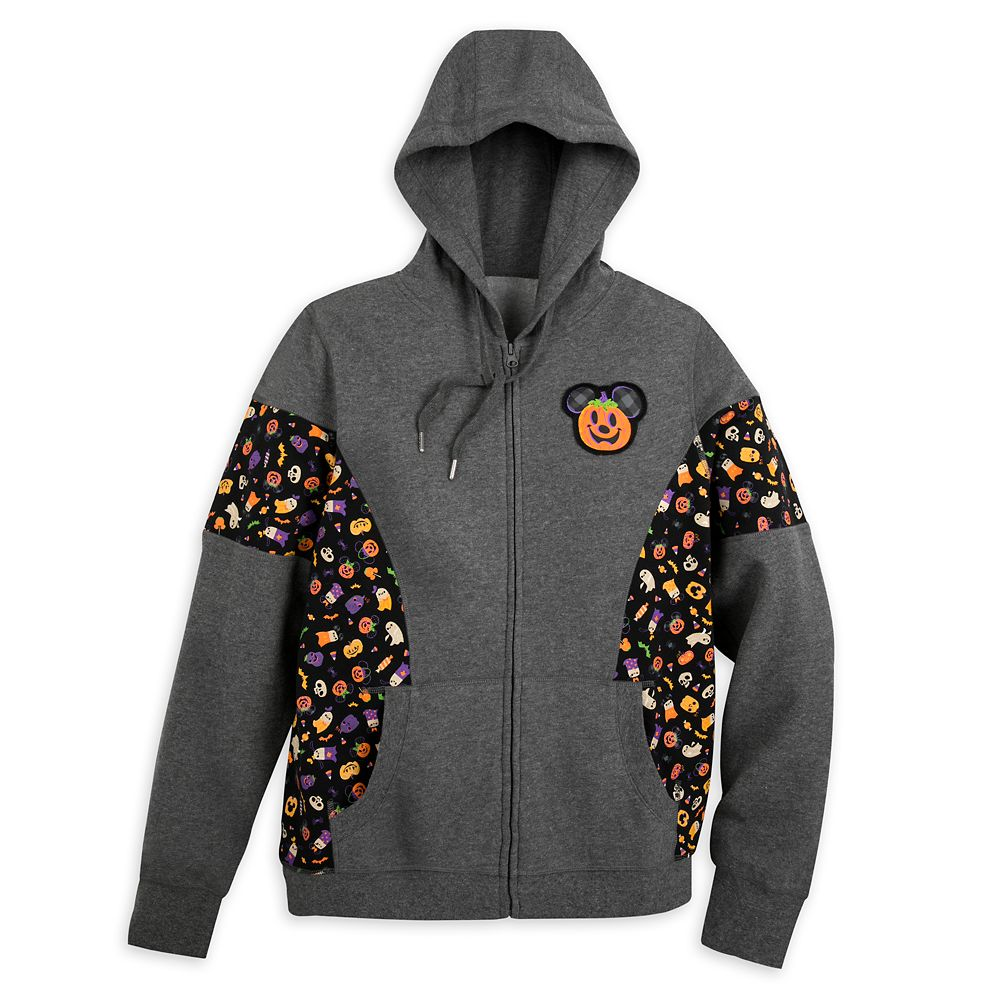 Mickey Mouse Halloween Zip Hoodie for Adults