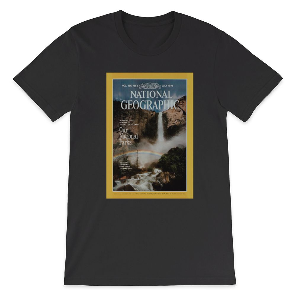 National Geographic x Parks Project Vintage Magazine Cover T-Shirt for Adults – Black