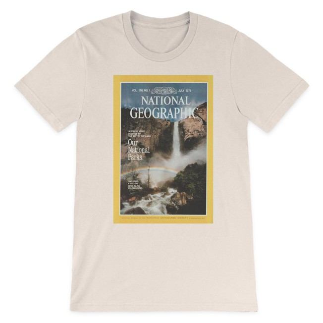 National Geographic x Parks Project Vintage Magazine Cover T-Shirt for Adults – Natural