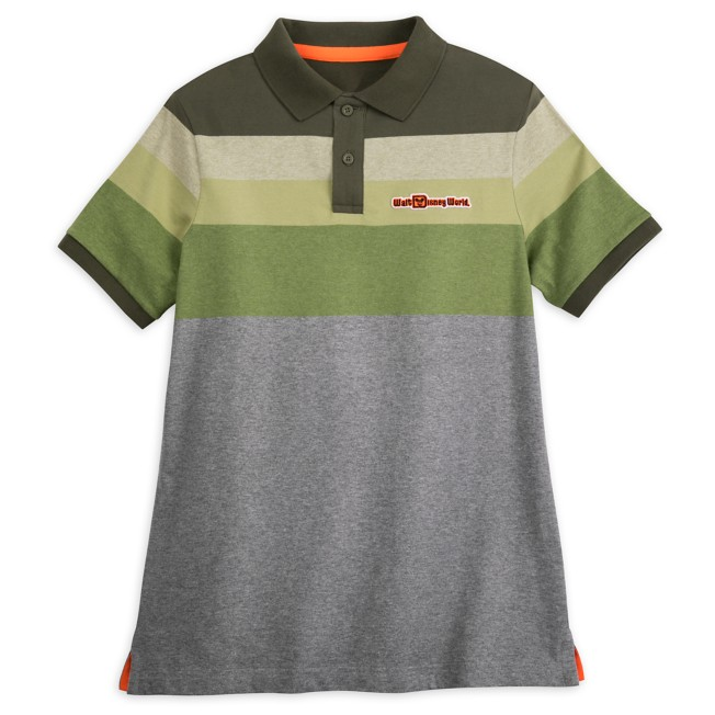 Walt Disney World Striped Polo Shirt for Adults – Green