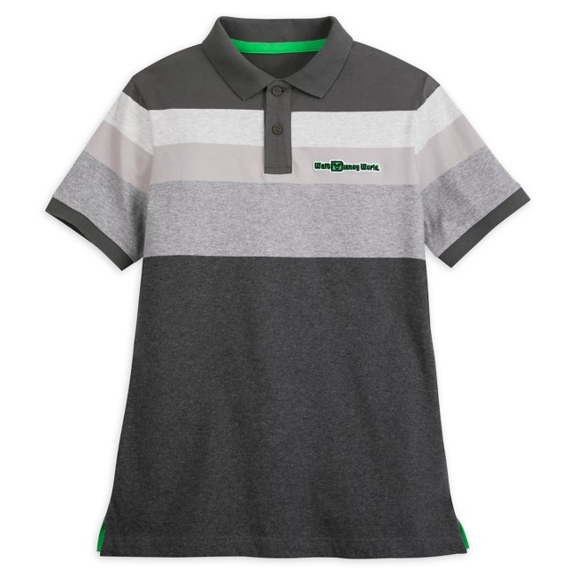 Walt Disney World Striped Polo Shirt for Adults – Gray