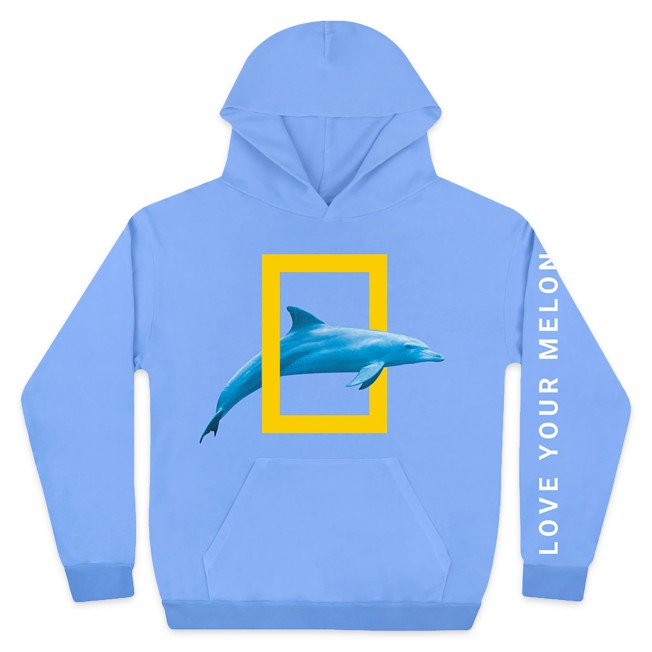 National Geographic Pullover Hoodie for Adults by Love Your Melon – Light Blue