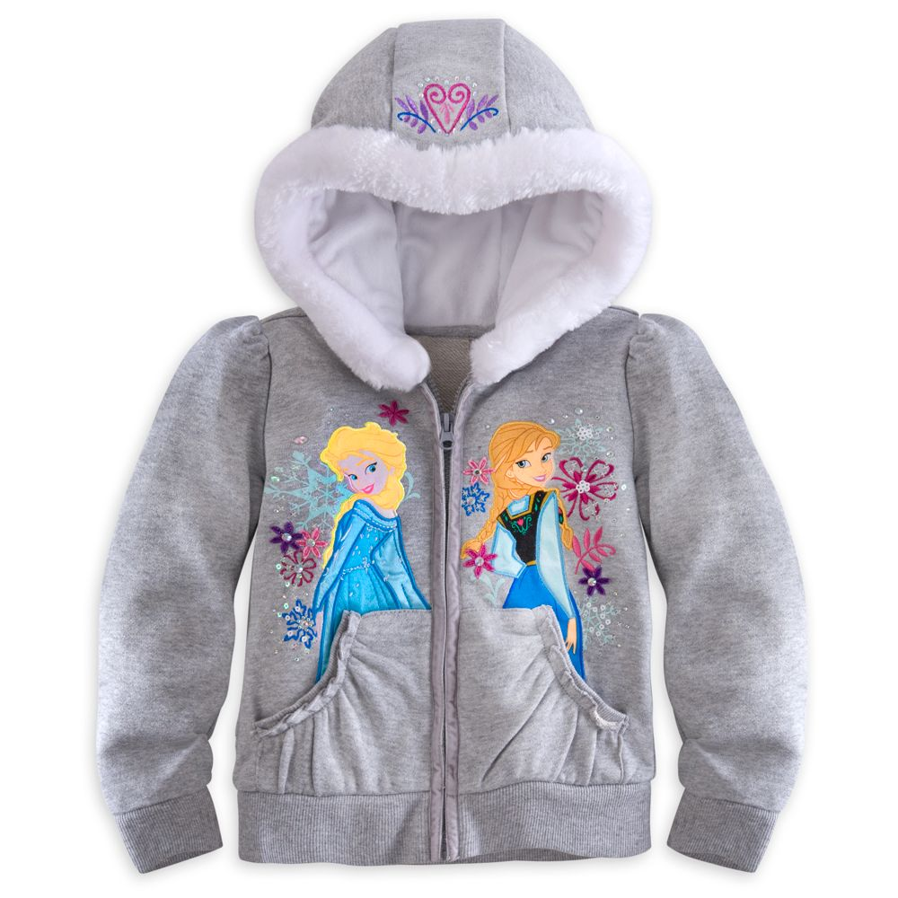 Anna and Elsa Hoodie for Girls – Frozen