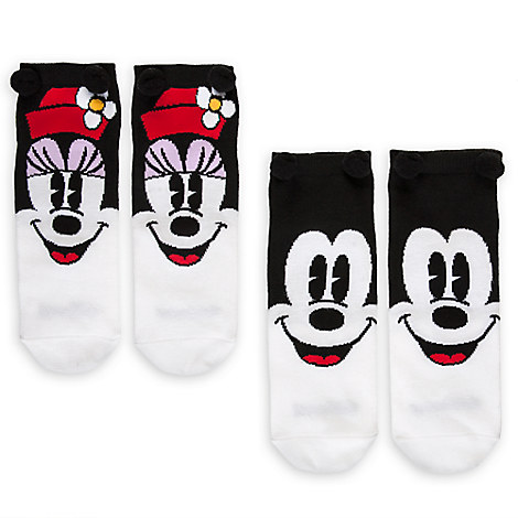 Mickey and Minnie Mouse Sock Set for Women - 2-Pack