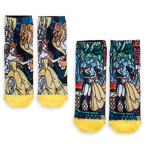 Beauty and the Beast Sock Set for Women - 2-Pack