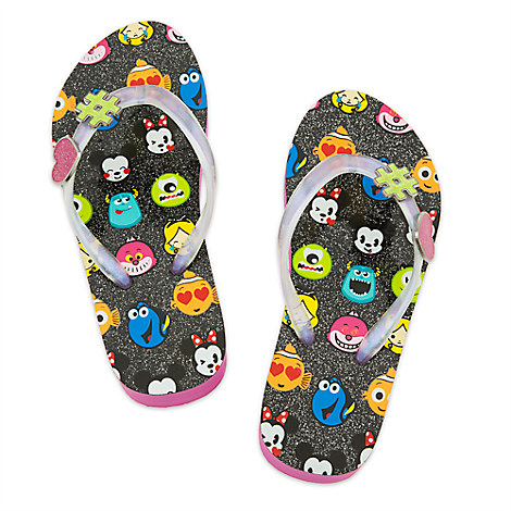Disney Emoji Platform Flip Flops for Girls