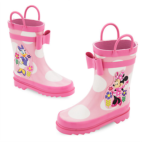 Minnie Mouse and Daisy Rain Boots for Kids