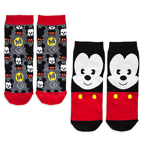 Mickey Mouse MXYZ Socks for Women - 2-Pack
