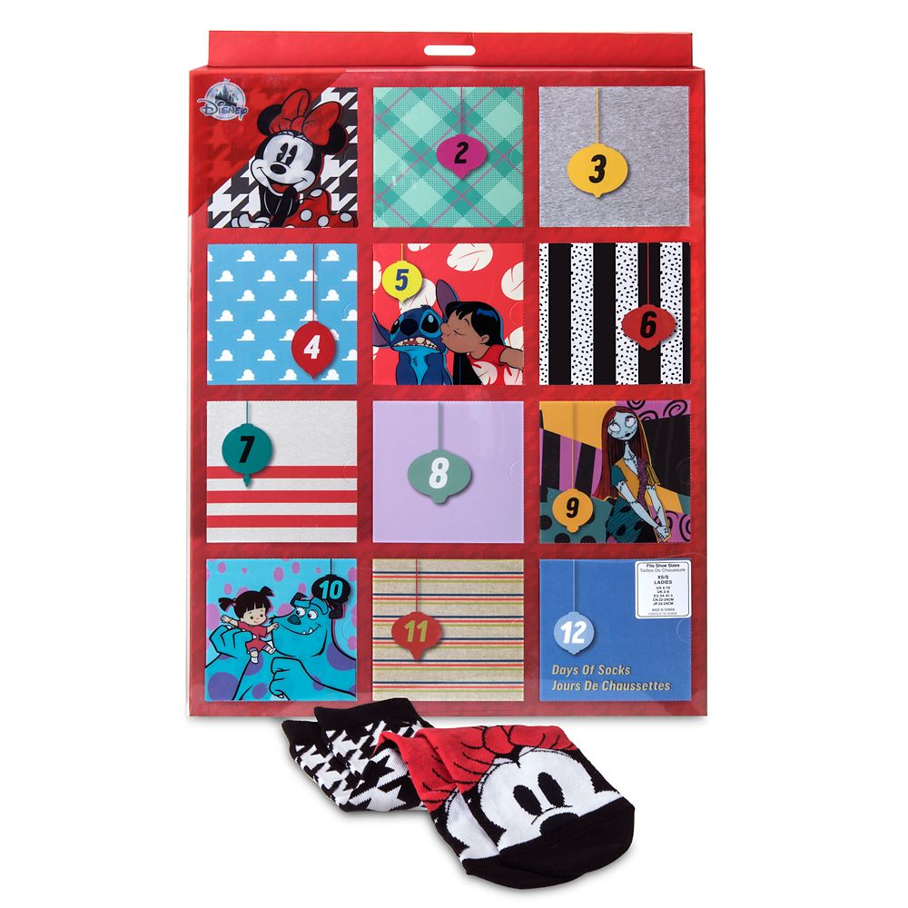 Disney and Pixar Holiday Advent Sock Set for Women