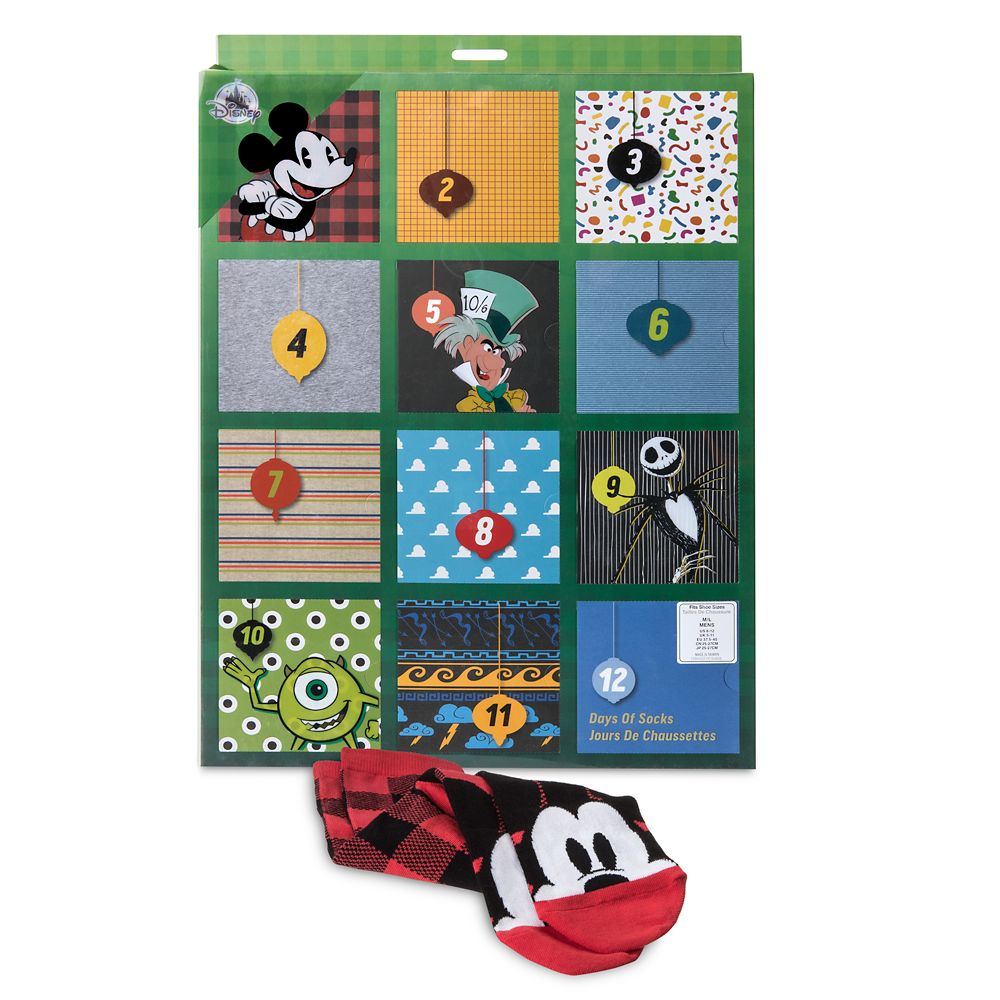 Disney and Pixar Holiday Advent Sock Set for Men