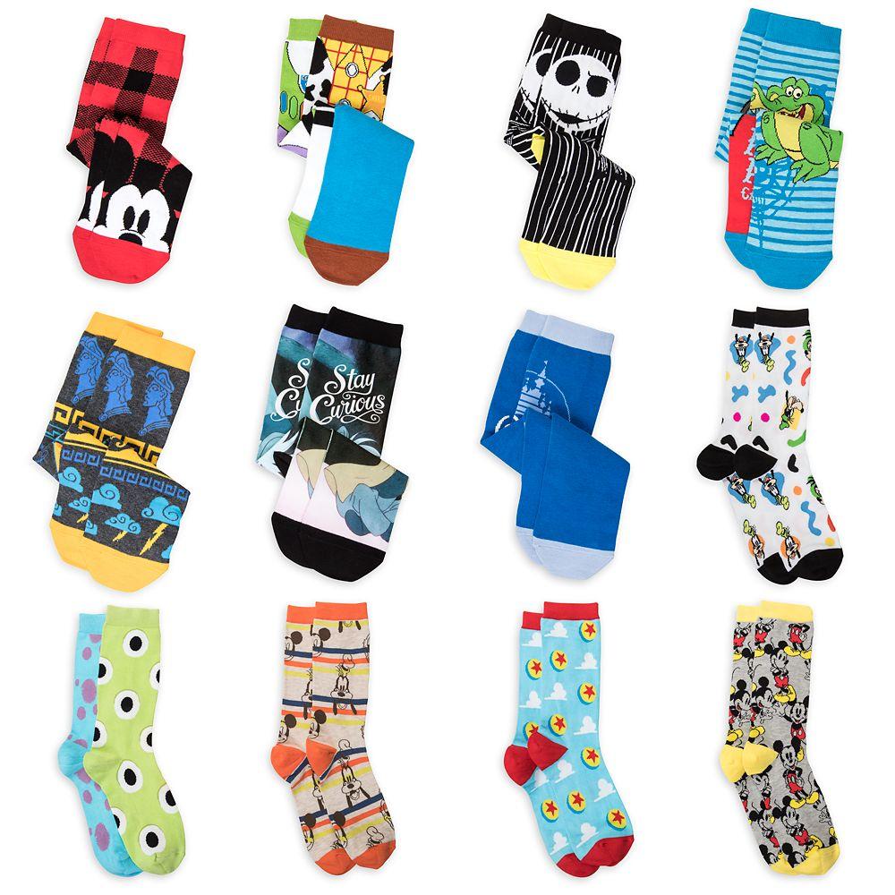 Disney and Pixar Holiday Advent Sock Set for Men