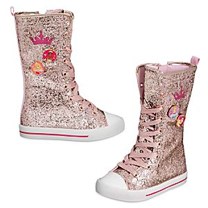 Disney Princess Glitter High Top Sneakers for Kids