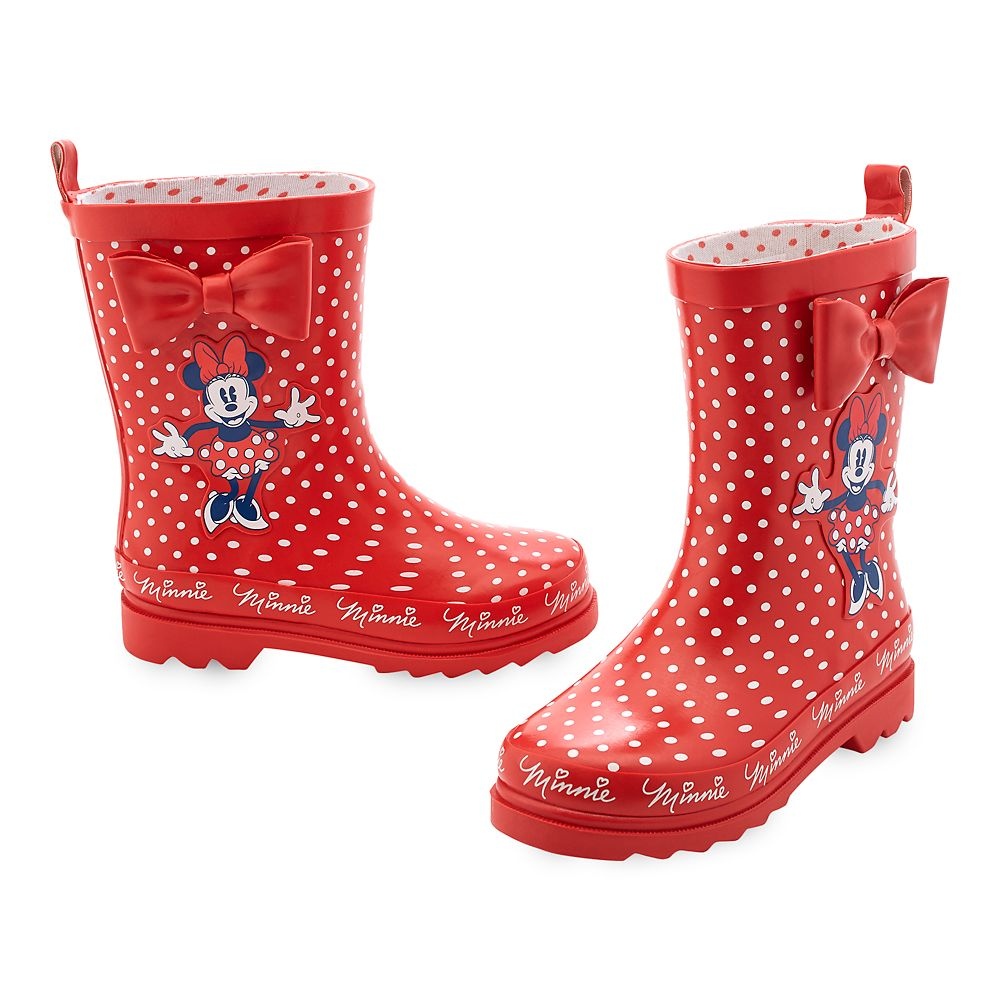 Minnie Mouse Red Rain Boots for Kids