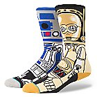 R2-D2 and C-3P0 ''Droid'' Socks for Men by Stance - Star Wars