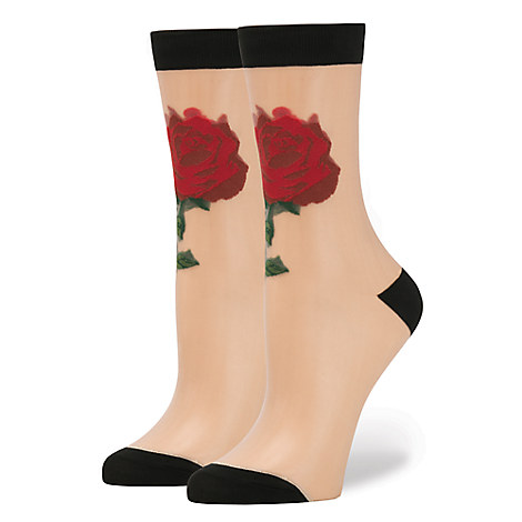 Beauty and the Beast ''The Rose'' Socks for Women by Stance - Live Action Film