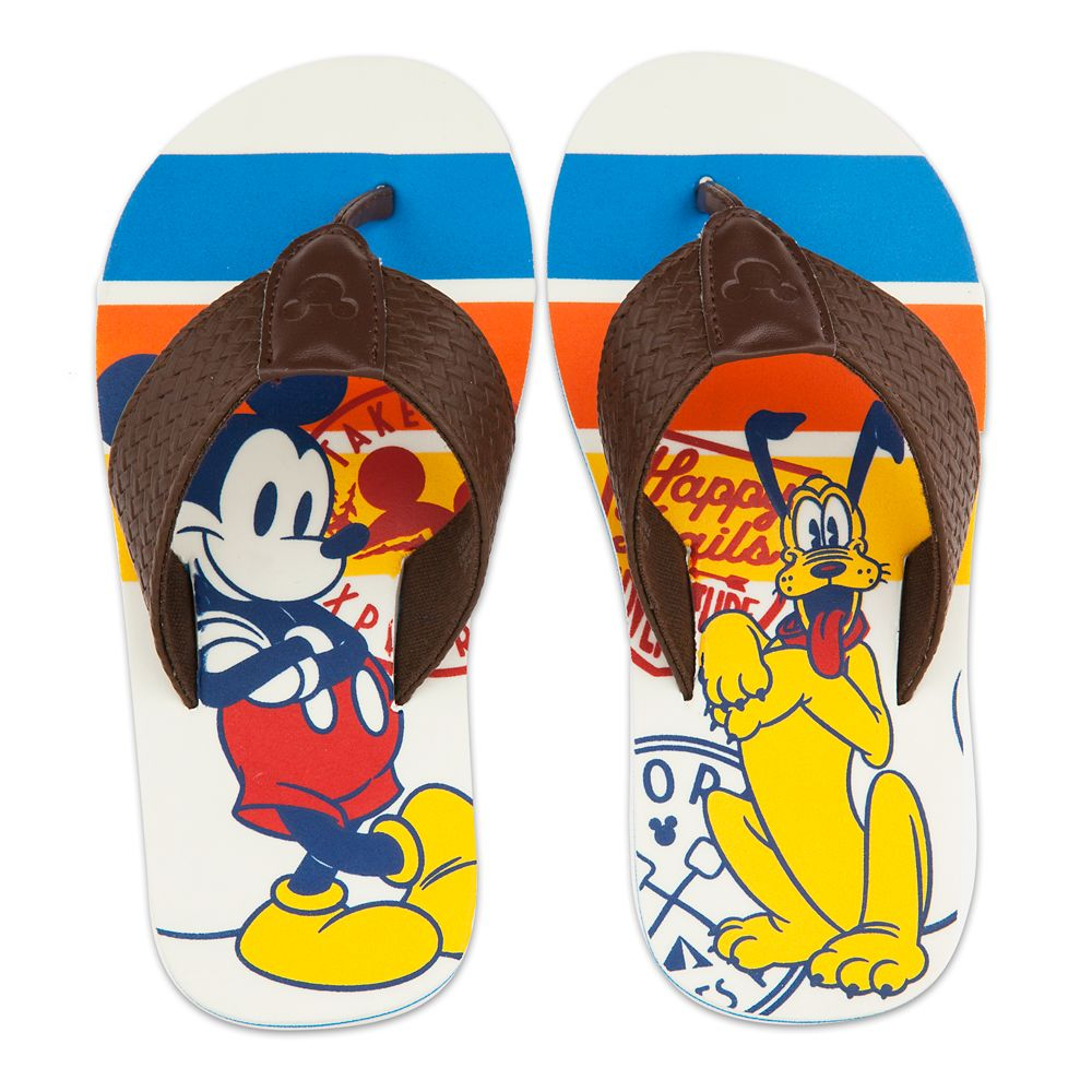 Mickey Mouse and Pluto Flip Flops for Kids