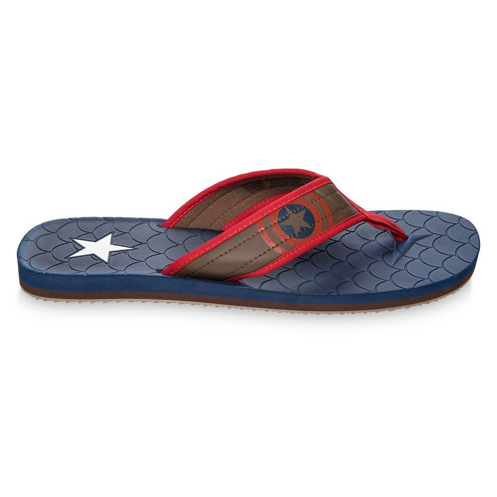 8-13 Captain America Boys Girls Kids Youth Non Slip Fleece Lined Slippers S//M