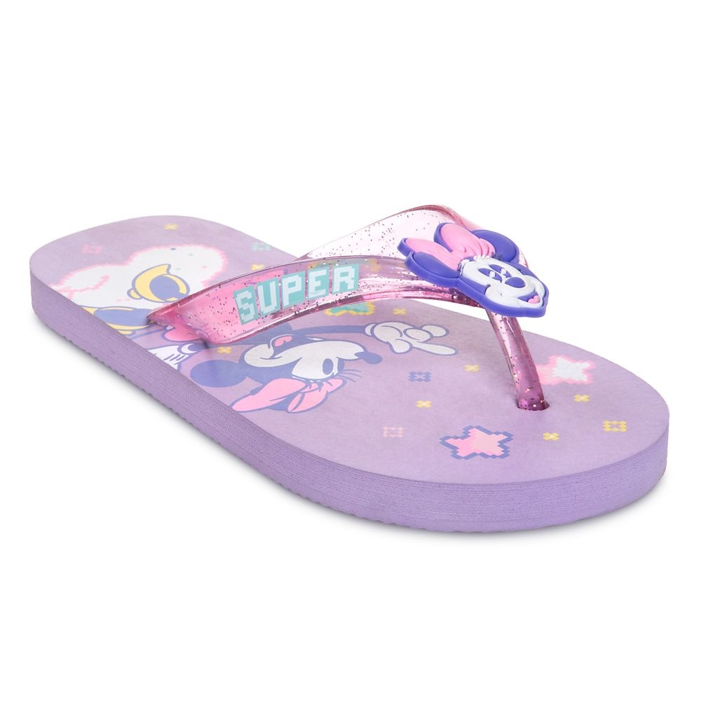 Minnie Mouse Purple Flip Flops for Kids