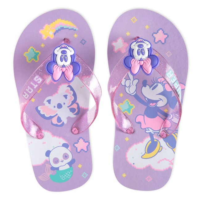 Minnie Mouse Purple Flip Flops for Kids