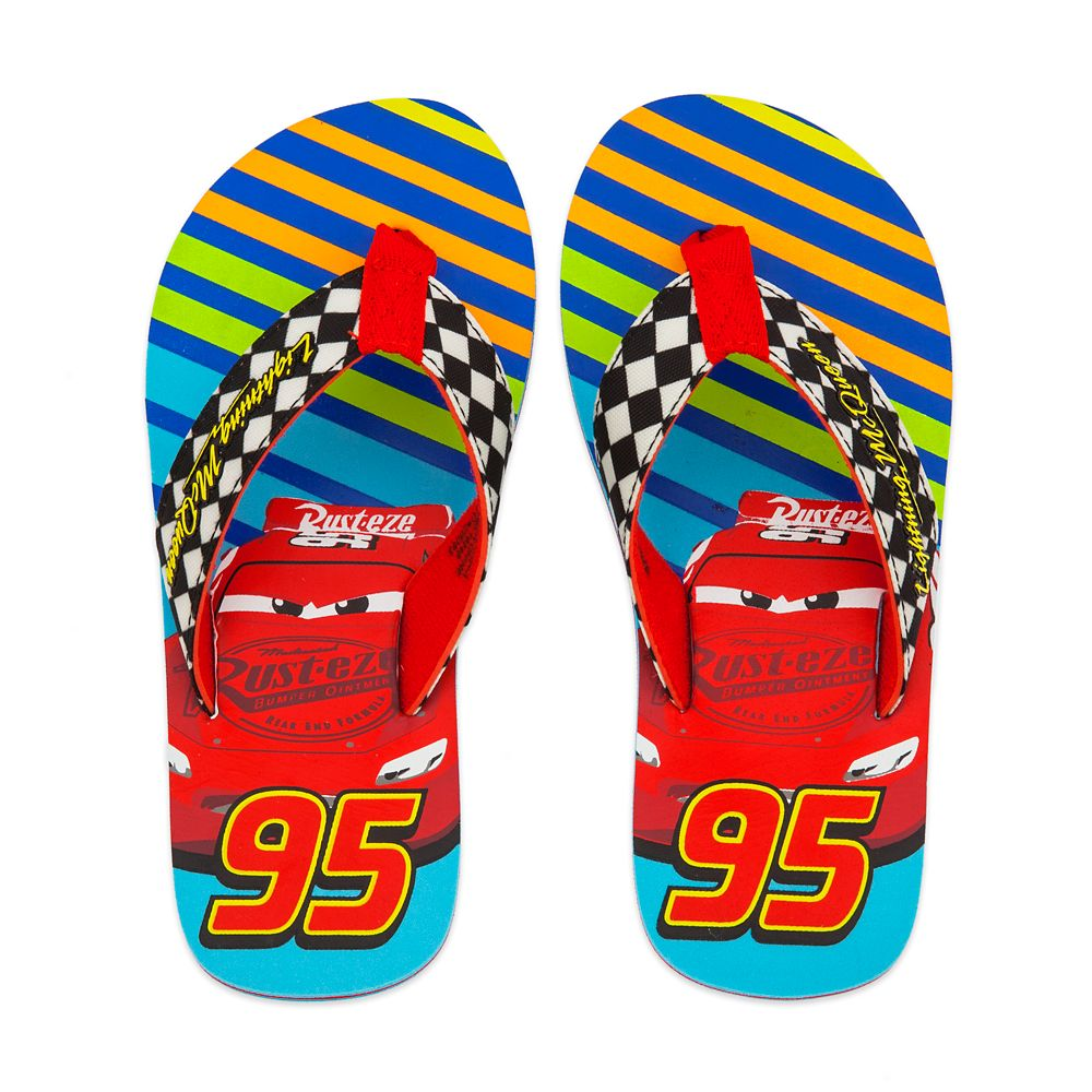 Lightning McQueen Flip Flops for Kids