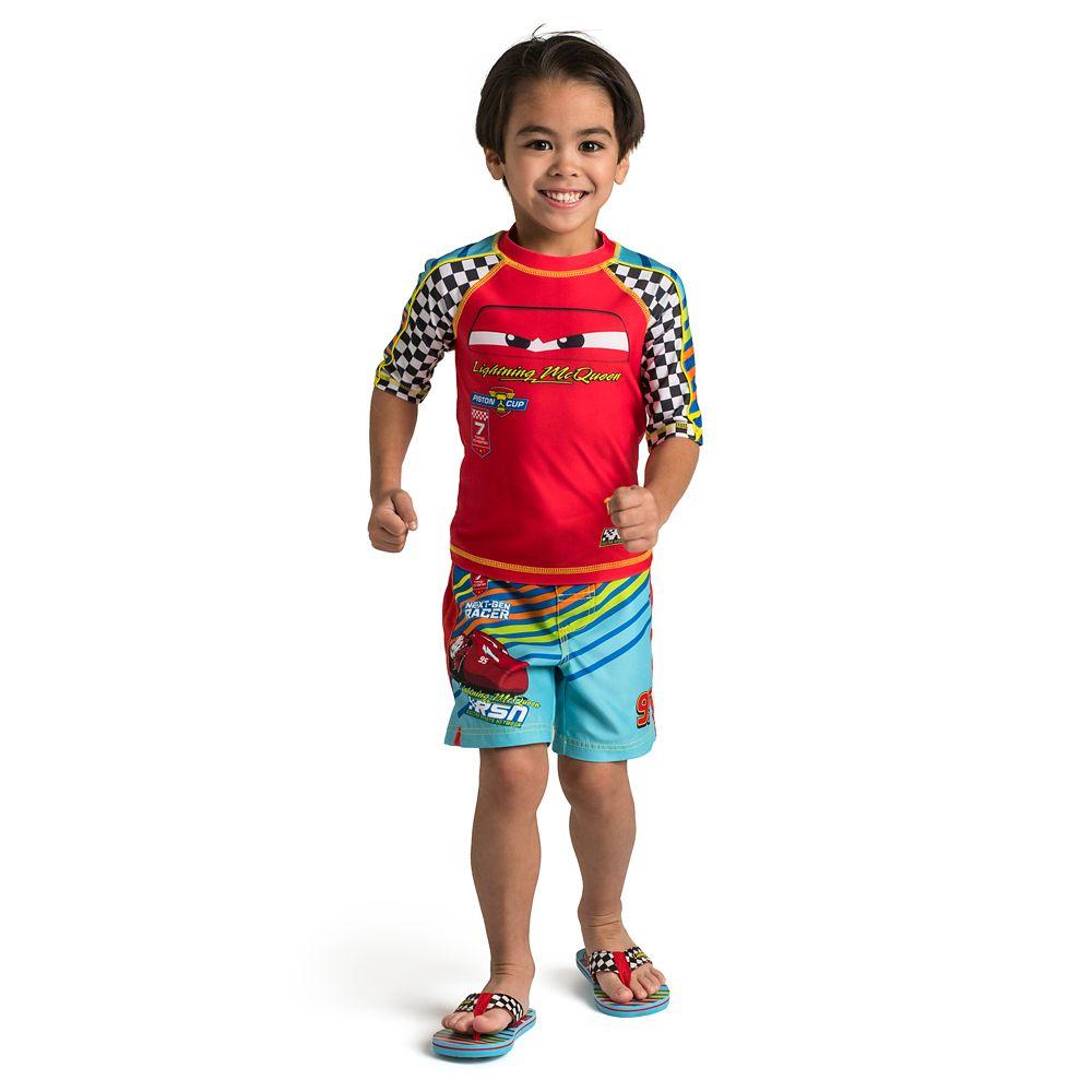 Lightning McQueen Flip Flops for Kids