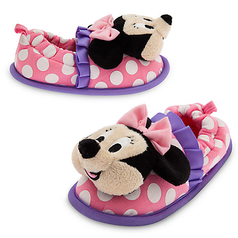 Minnie Mouse Happy Helpers Plush Slippers for Kids