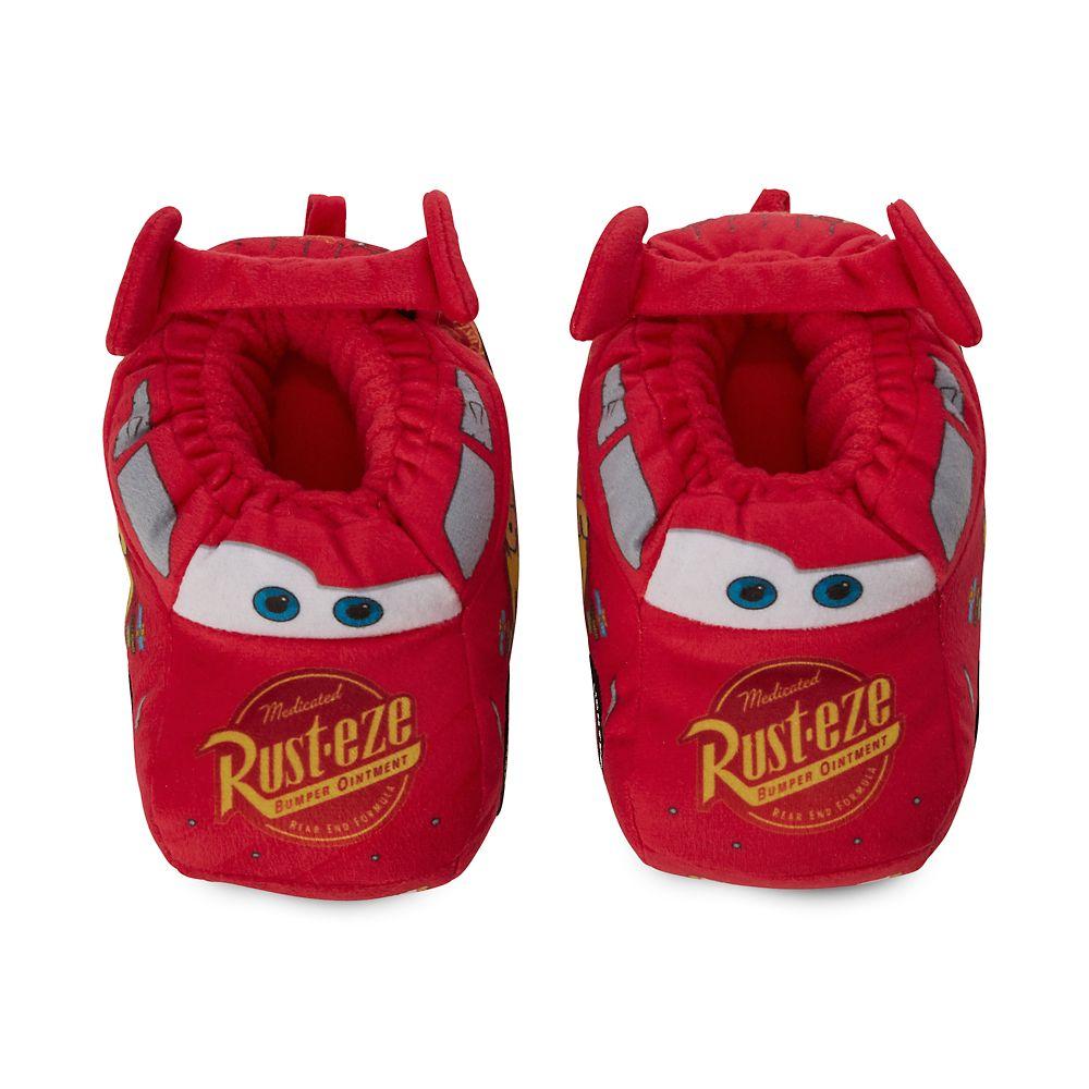Disney Pixar/'s CARS Lightning McQueen boys Red Slippers NEW Sleep shoes slip ons