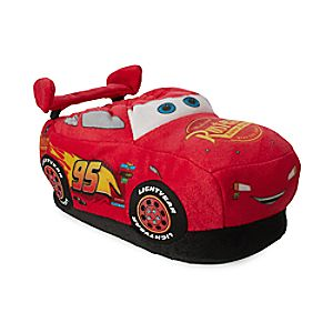 Image of Lightning McQueen Plush Slippers for Kids