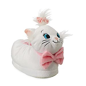 Image of Marie Plush Slippers for Kids - The Aristocats