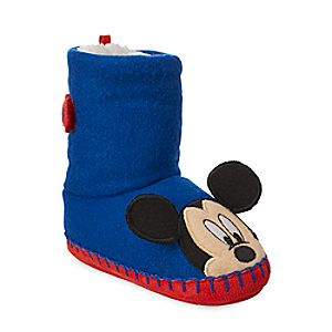 Image of Mickey Mouse Boot Slippers for Kids