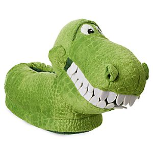 Image of Rex Plush Slippers for Kids - Toy Story