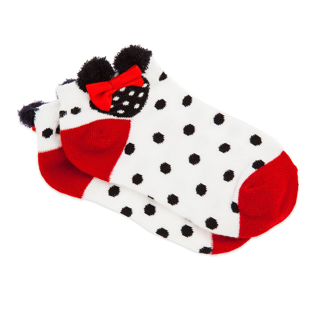 Minnie Mouse Ankle Socks for Girls – White