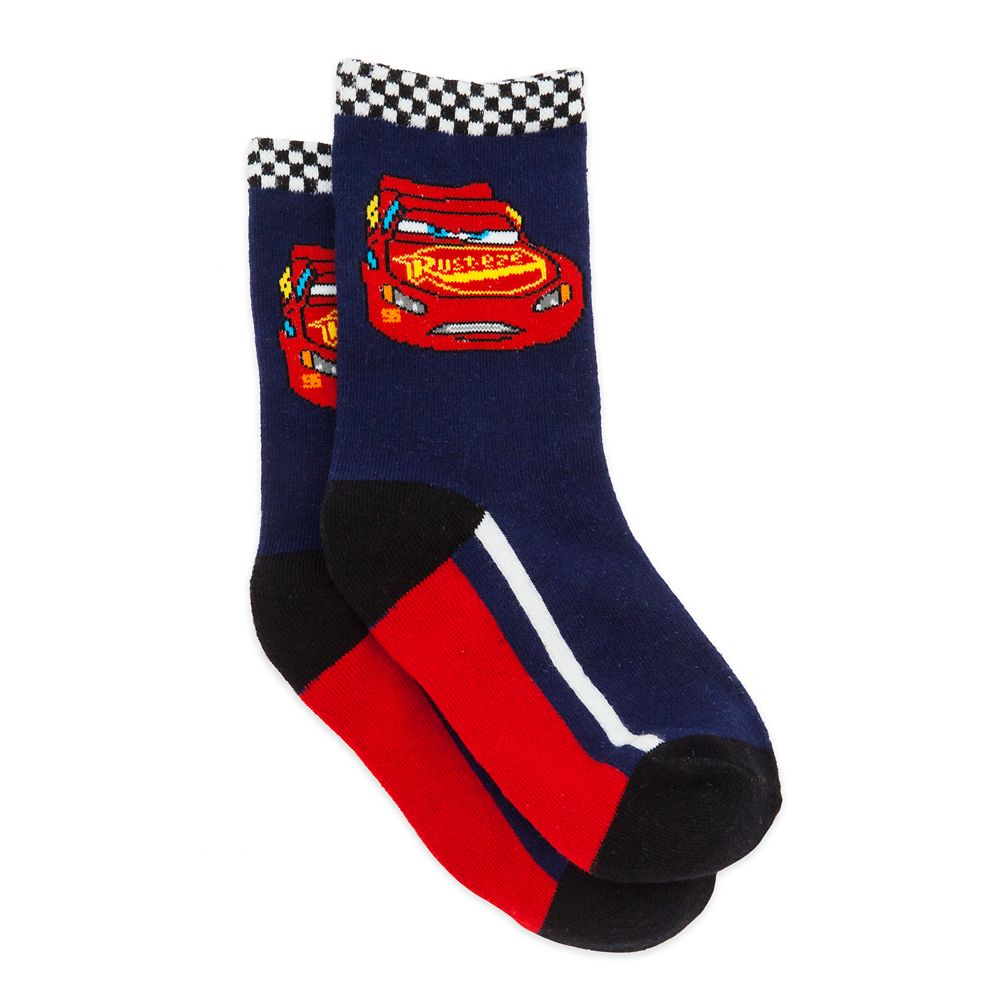 Lightning McQueen Crew Socks for Boys