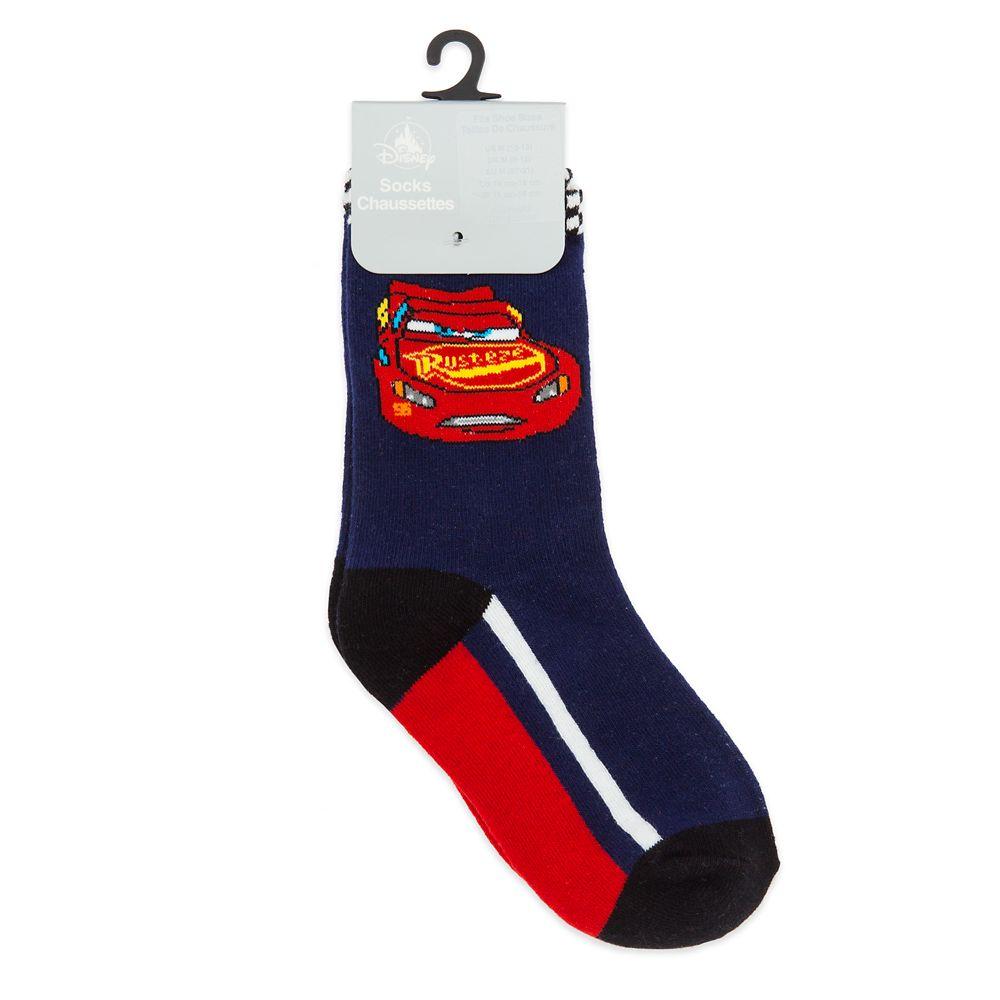 Lightning McQueen Crew Socks for Boys