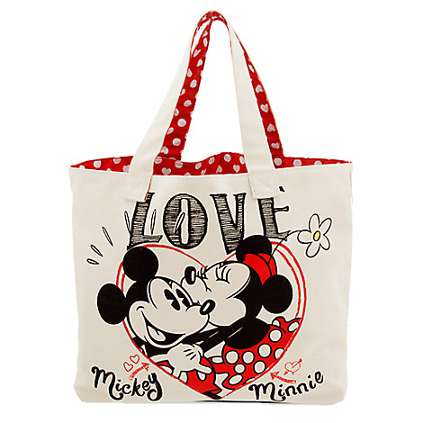 Mickey and Minnie Mouse Canvas Tote