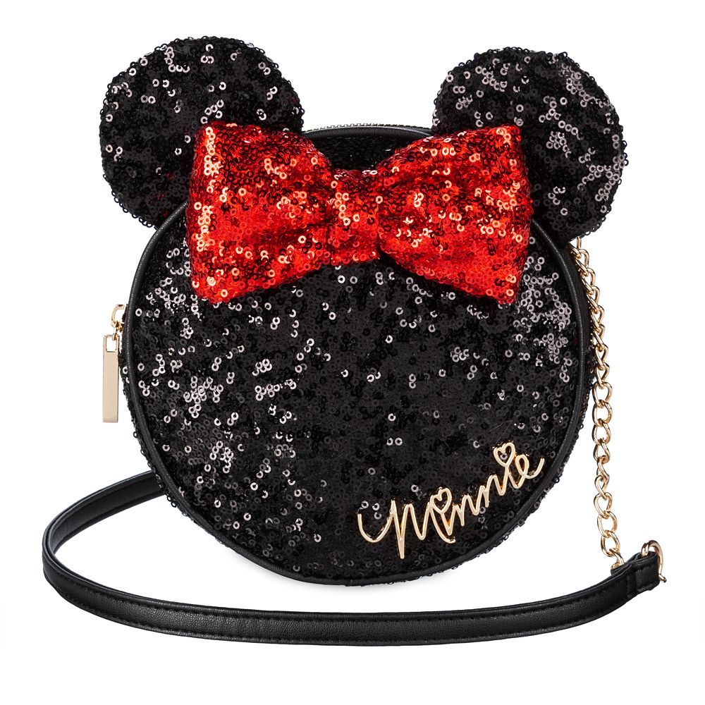Minnie Mouse Icon Sequin Crossbody Bag