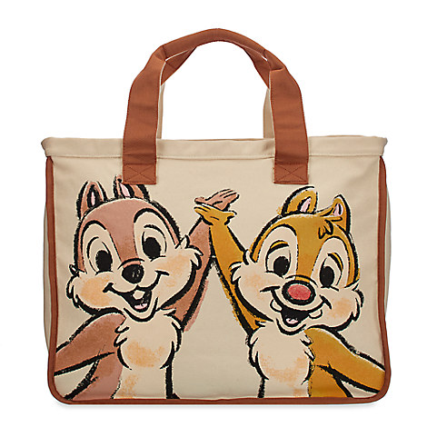 Chip 'n Dale Large Canvas Tote Bag
