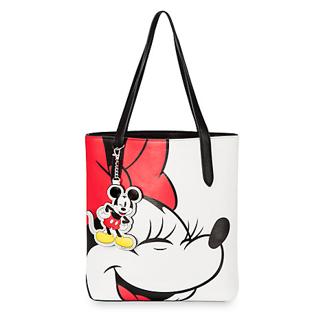 Minnie and Mickey Mouse Faux Leather Tote by Loungefly