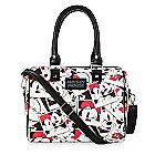 Mickey and Mickey Mouse Faux Leather Duffle Bag by Loungefly