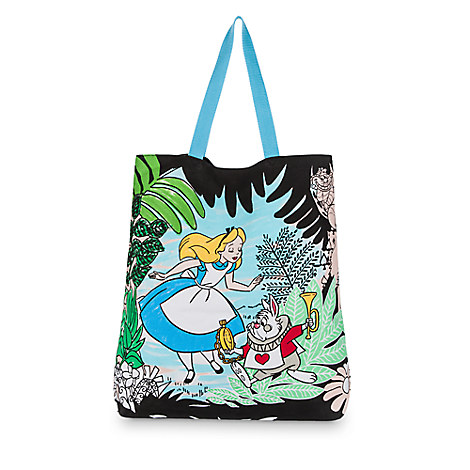 Alice in Wonderland Canvas Tote